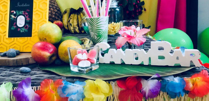 """Anniversaire sur le thème tropical """"ALOHA"""""""