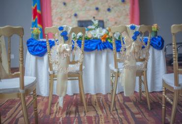Mariage thème bleu & dorée by Agence Dorée