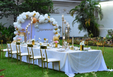 Birthday Diner for Mrs Triphonie by Agence Dorée