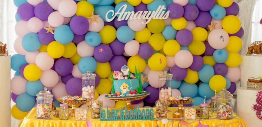 Baby Shark birthday party for Amarryllis by Agence Dorée